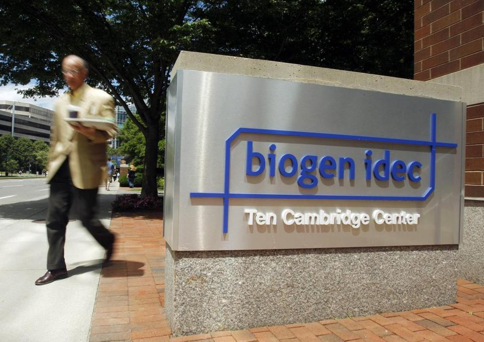 Shares of Biogen Idec stock plunged $17.70 to $309.07, a loss of 5.4 percent, on the Nasdaq stock exchange. REUTERS/Brian Snyder/File